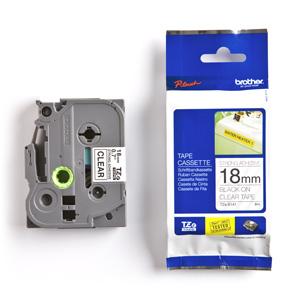 páska BROTHER TZS141 čierne písmo, transparentná páska extra lepivá ADHESIVE Tape (18mm)