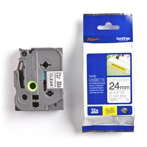 páska BROTHER TZS151 čierne písmo, transparentná páska extra lepivá ADHESIVE Tape (24mm)