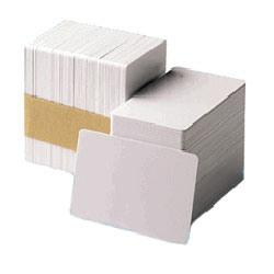 ZEBRA BIELE PVC KARTY, 30 MIL (500 KARIET)