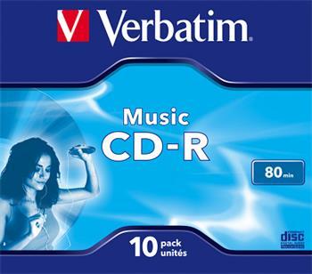 CD-R VERBATIM DTL+ AUDIO 80MIN 10ks/bal.
