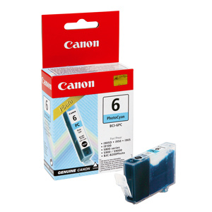 kazeta CANON BCI-6PC photo cyan Pixma iP6000D/8500, Bubble Jet i9950