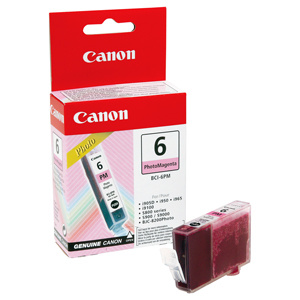 kazeta CANON BCI-6PM photo magenta Pixma iP6000D/8500, Bubble Jet i9950