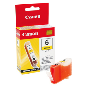 kazeta CANON BCI-6Y yellow Pixma iP4000/5000/6000D, MP750/780