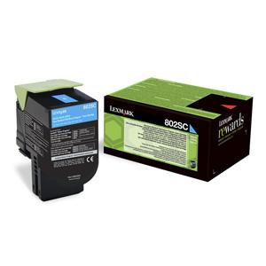 Toner Lexmark CX310/CX410/CX510 802SC CYAN 2K