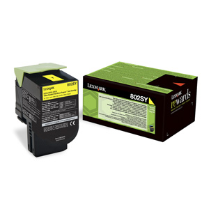 Toner Lexmark CX310/CX410/CX510 802SY YELLOW 2K