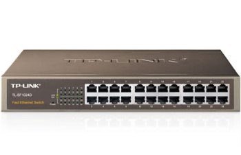 Switch TP-LINK TL-SF1024D 24-port 10/100M, 24x 10/100M RJ45 ports, 13-inch steel case