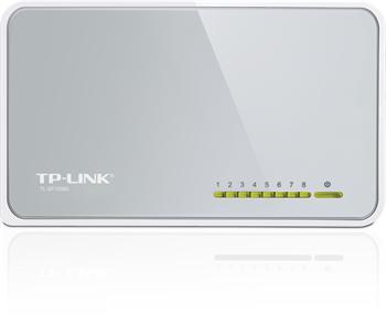 Mini Desktop Switch TP-LINK TL-SF1008D 8-port 10/100M, 8x 10/100M RJ45 ports, Plastic case