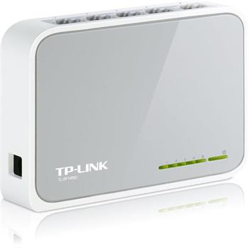Mini Desktop Switch 5-port 10/100M TP-LINK TL-SF1005D, 5x 10/100M RJ45 ports, Plastic case