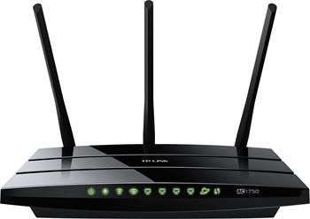 Dual Band Gigabit Router TP-LINK Archer C7 Wireless AC1750, 1750Mb, 1xWAN and 4xLAN Gigabit ports, 2xUSB, 3 odním.antény