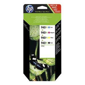 KAZETA HP C2N93AE 4-pack No.940XL čierna, azúrová, purpurová, žltá)