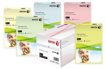 XEROX papier Symphony laser A4/250ks 160g, tmavo červená farba