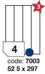 etikety RAYFILM 52,5x297 univerzálne biele R01007003F (1.000 list./A4)