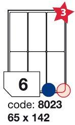 etikety RAYFILM 65x142 univerzálne biele R01008023F (1.000 list./A4)