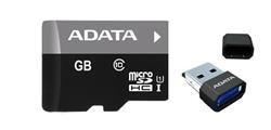 Pamäťová karta ADATA 32GB MicroSDHC Card+USB micro readerClass 10