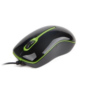 myš GEMBIRD optická, čierno-zelená, 1000 DPI, USB