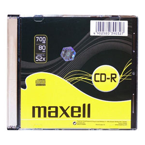 CD-R MAXELL 700MB 52X Slim box 1ks