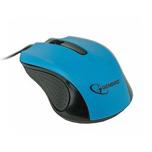 myš GEMBIRD optická, čierno-modrá, 1200 DPI, USB