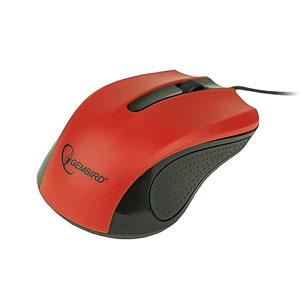 myš GEMBIRD optická, čierno-červená, 1200 DPI, USB