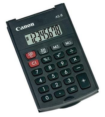vrecková kalkulačka CANON AS-8, 8 miest, batérie