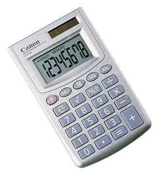 vrecková kalkulačka CANON LS-270H, 8 miest, solárne napájanie + batérie
