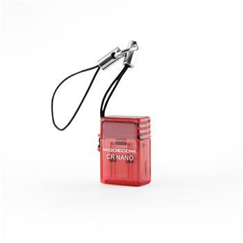 Modecom externá čítačka kariet Micro SD CR-Nano USB 2.0 Red (červená)
