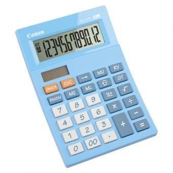 stolová kalkulačka CANON AS-120V modrá, 12 miest, solárne napájanie + batérie