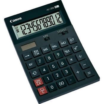 stolová kalkulačka CANON AS-1200, 12 miest, solárne napájanie + batérie