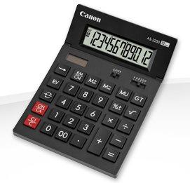 stolová kalkulačka CANON AS-2200, 12 miest, solárne napájanie + batérie