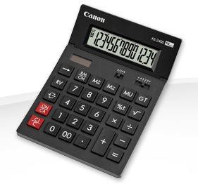 stolová kalkulačka CANON AS-2400, 14 miest, solárne napájanie + batérie