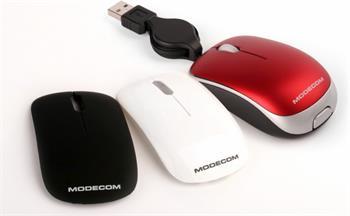 Myš Modecom MC-C1 Cameleon, USB , 800 dpi, výmenné kryty - červený/čierny/biely