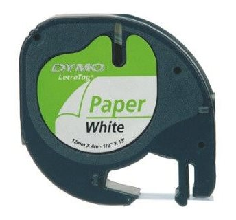 páska DYMO 59421 LetraTag White Paper Tape (12mm)