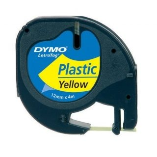 páska DYMO 59423 LetraTag Yellow Plastic Tape (12mm)