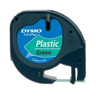 páska DYMO 59425 LetraTag Green Plastic Tape (12mm)