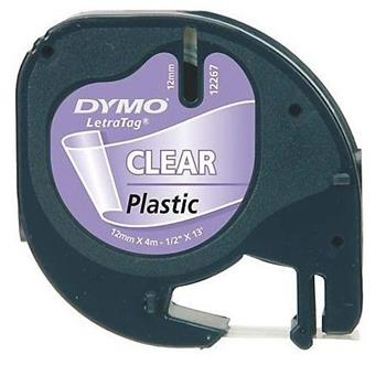 páska DYMO 16951 (12268) LetraTag Transparent Plastic Tape (12mm)