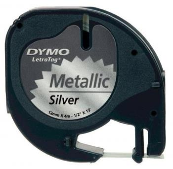 páska DYMO 59429 LetraTag Silver Metallic Tape (12mm)