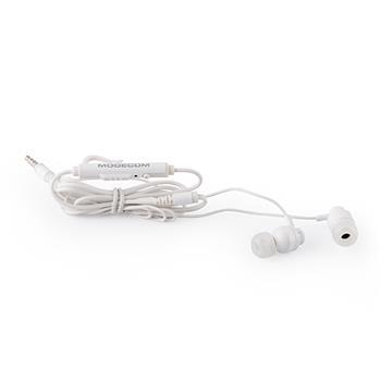 Modecom slúchadlá do uší s mikrofónom MC-140 WHITE