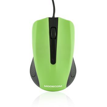 Myš Modecom optická MC-M9, 1000 DPI, USB (čierno-zelená)