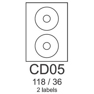 etikety RAYFILM CD05 118/36 univerzálne biele R0100CD05A (100 list./A4)