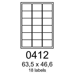 etikety RAYFILM 63,5x46,6 univerzálne biele R01000412A (100 list./A4)
