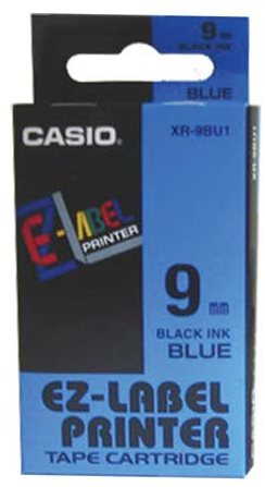 páska CASIO XR-9BU1 Black On Blue Tape EZ Label Printer (9mm)