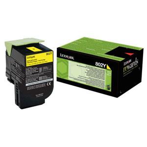 Toner Lexmark CX310/CX410/CX510 802Y YELLOW 1K