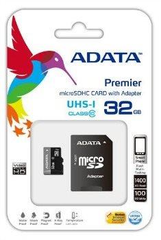 Pamäťová karta ADATA Premier micro SDHC karta 32GB UHS-I U1 Class 10 + adaptér