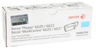 toner XEROX 106R02760 cyan PHASER 6020/6022, WorkCentre 6025/6027