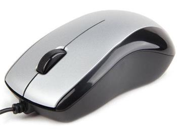 myš GEMBIRD optická, čierno-strieborná, 1000 DPI, USB