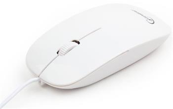 myš GEMBIRD optická, biela, 1200 DPI, USB