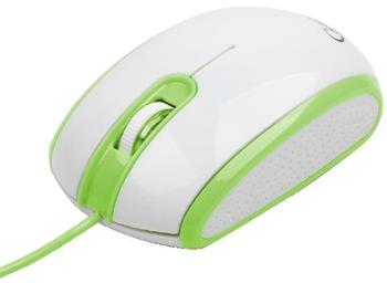 myš GEMBIRD optická, bielo-zelená, 1200 DPI, USB