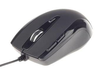 myš GEMBIRD laserová herná, čierna, 2400 DPI, USB 2.0