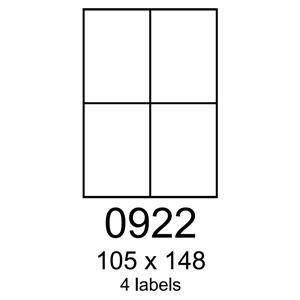 etikety RAYFILM 105x148 biele s odnímateľným lepidlom R01020922A (100 list./A4)