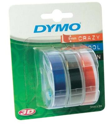páska DYMO 3D Blue/Black/Red Tape (9mm) 3ks