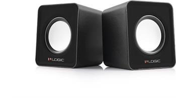 Reproduktory Modecom Logic 2.0 LS-09 2x 3W BLACK čierne